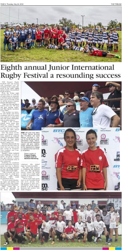 Eighth Annual Junior International Rugby Festival a Resounding Success