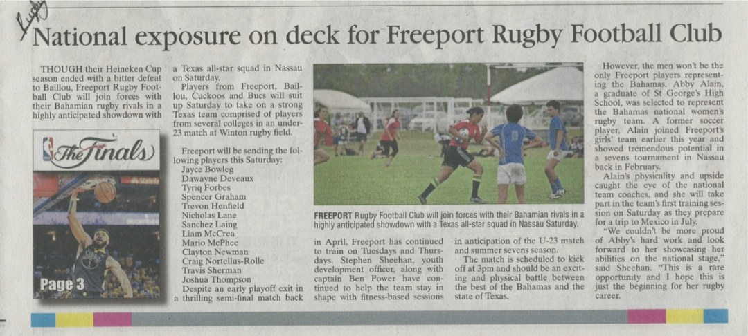National Exposure on deck for Freeport RFC