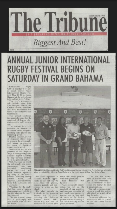 Eighth Annual Junior International Rugby Festival Coverage