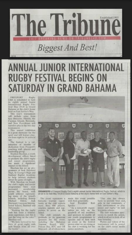 Eighth Annual Junior International Rugby Festival Coverage